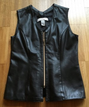 Zucchero Leather Vest black leather