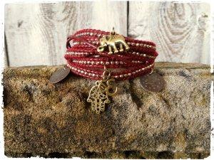Charm Bracelet bordeaux