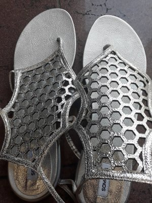 Som Mits Sandalo toe-post argento