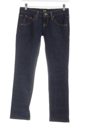 Lee 7/8 Jeans dunkelblau Casual-Look