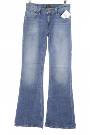 Lee Boot Cut Jeans blau-goldfarben Washed-Optik