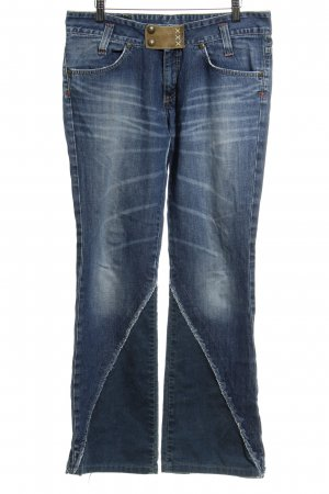 Lee Boot Cut Jeans blau Washed-Optik
