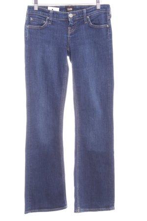 Lee Boot Cut Jeans dunkelblau Street-Fashion-Look