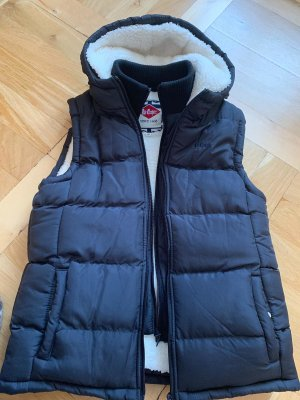 Hooded Vest dark blue