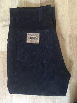Lee Pantalon en velours côtelé bleu foncé