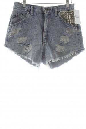 Lee High Waist Jeans himmelblau Destroy-Optik