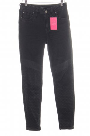 Lee High Waist Jeans schwarz Punktemuster Casual-Look