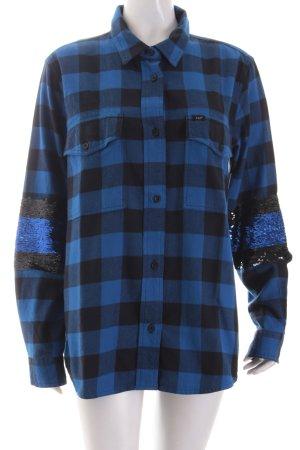 Lee Holzfällerhemd schwarz-blau Karomuster Glitzer-Optik