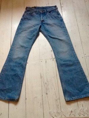 Lee Jeans taille haute bleu azur
