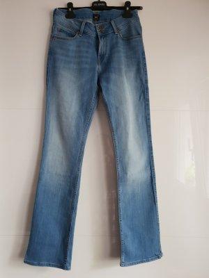 Lee Jeans a zampa d'elefante blu pallido-azzurro
