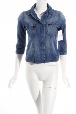 Lee Jeansbluse blau Washed-Optik