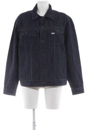 Lee Jeansjacke dunkelblau-weiß Streifenmuster schlichter Stil