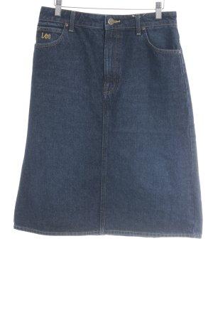 Lee Jeansrock dunkelblau Jeans-Optik