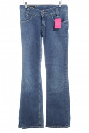 Lee Jeansschlaghose blau Washed-Optik