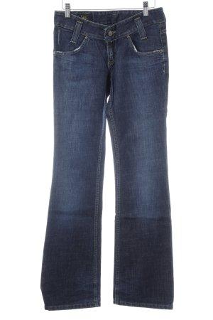 Lee Jeansschlaghose dunkelblau Used-Optik