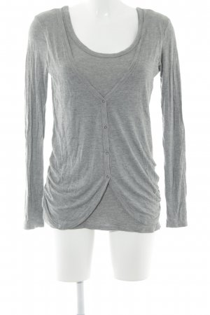 Lee Ensemble en jersey gris clair moucheté style simple