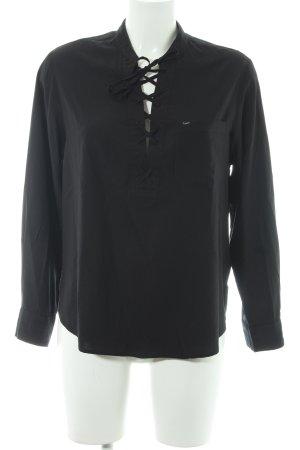 Lee Langarm-Bluse schwarz Casual-Look