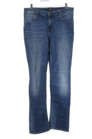 Lee Marlene jeans staalblauw zakelijke stijl