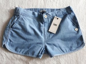 Lee Pantaloncino di jeans azzurro Cotone