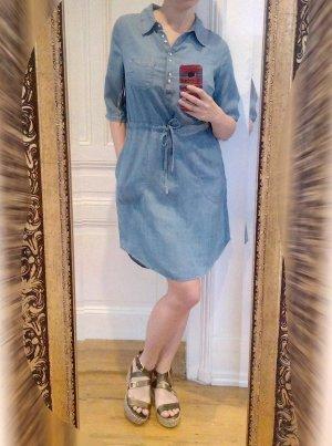 Lee Platinum Labe Kleid Neu Blau 36 38 S M Sommerkleid Jeanskleid