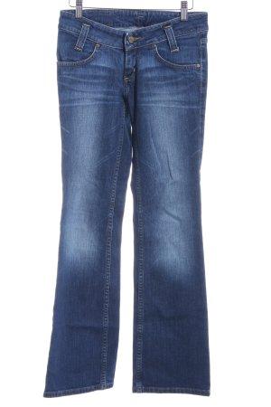 Lee Pantalon pattes d'éléphant bleu foncé-bleuet style décontracté