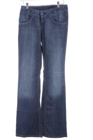 Lee Pantalon pattes d'éléphant bleu foncé-bleu acier style décontracté