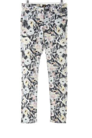 Lee Skinny Jeans Blumenmuster Romantik-Look