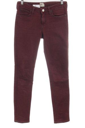 Lee Skinny Jeans bordeauxrot Casual-Look