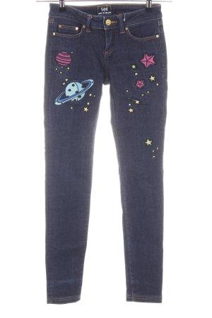 Lee Skinny Jeans blau Motivdruck Casual-Look
