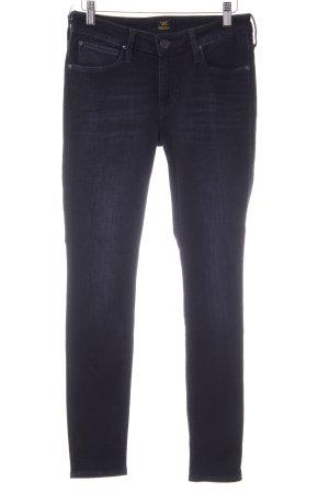 Lee Skinny Jeans dunkelblau-graublau Casual-Look