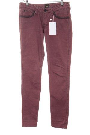 Lee Skinny Jeans dunkelrot-schwarz Metallknöpfe