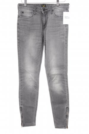 Lee Skinny Jeans grau Washed-Optik