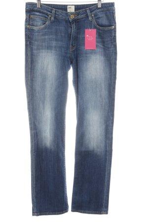 Lee Slim Jeans cornflower blue-steel blue casual look