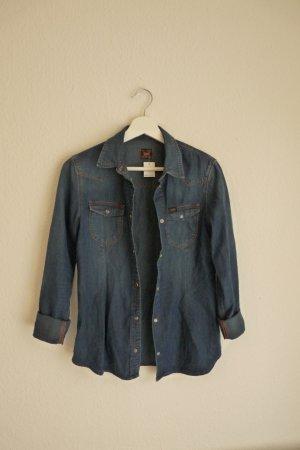 LEE Slim Western Jeanshemd Damenmode S 36 38 *NEU* blau Western Cowboy Style Fashion Blogger