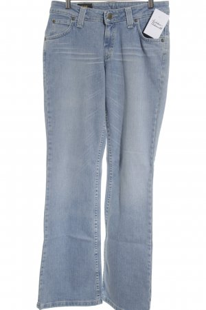 Lee Straight-Leg Jeans hellblau-weiß Street-Fashion-Look