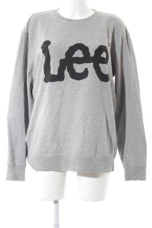 Lee Sweatshirt grau-schwarz grafisches Muster Casual-Look