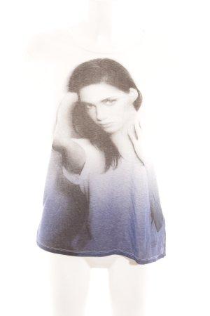 Lee T-Shirt blau-weiß Farbverlauf Casual-Look