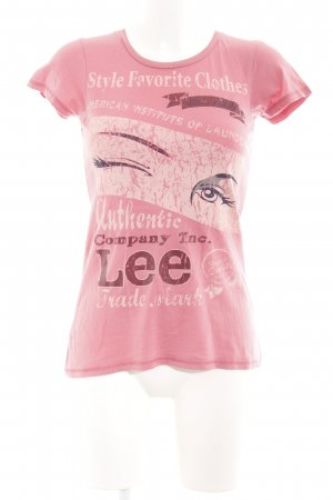 Lee T-Shirt rosa Motivdruck Casual-Look