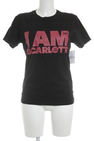Lee T-Shirt schwarz-magenta Motivdruck schlichter Stil
