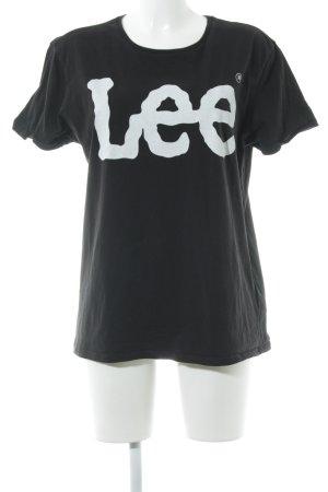 Lee T-Shirt schwarz Schriftzug gedruckt Casual-Look