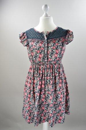 LeeCooper Kleid mit Blumenmuster und Spitze mehrfarbig Größe M