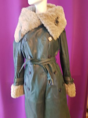 Leather Coat green leather