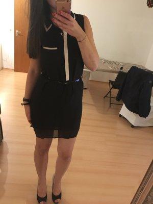 Lefties Kleid mit Kragen rosé schwarz