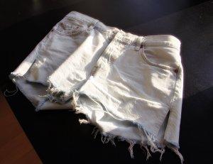 Levi's Pantalón corto de tela vaquera azul celeste-blanco