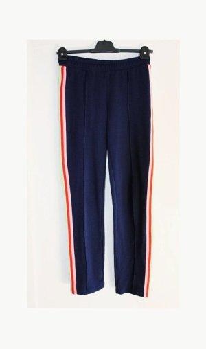 legere H&M Hose Track Pants Joggers Größe 38/40 Seitenstreifen dunkelblau