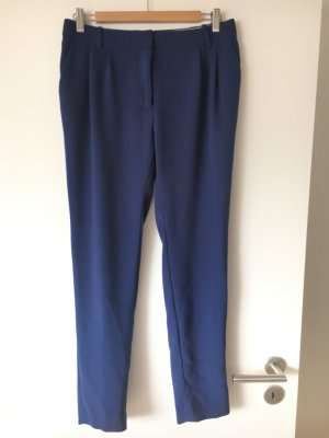 J.crew Lage taille broek blauw Gemengd weefsel