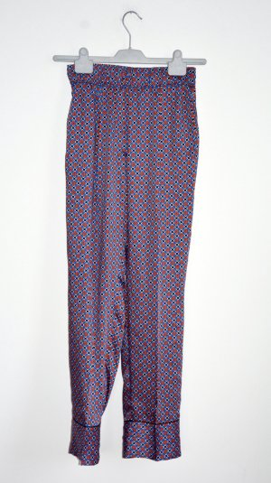 Sandro Pantalon boyfriend bleu-rouge foncé polyester