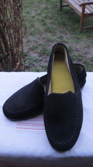Mocasines negro Cuero
