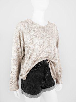 Legerer Vintage Pullover mit Reptil-Print