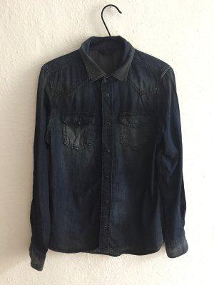 Diesel Chemise en jean bleu foncé